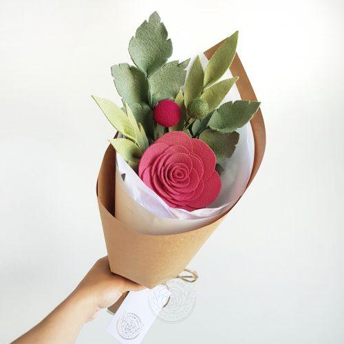Single Rose Posy
